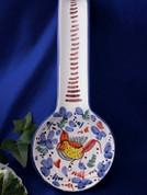 Deruta Arabesco Spoon Rest, Deruta Arabesco, Arabesco Bird Spoon Rest