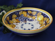 Tuscan Lemons Grapes Serving Bowl, Tuscan Lemon Grapes Bowl, Tuscan Lemons Serving Bowl