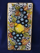 Italian Wall Tile, Tuscan Lemons Grapes Fruit Wall Tile, Tuscany Wall Tile, Italian First Stone