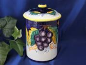 Deruta Biscotti Jar, Deruta Lemon Grapes Biscotti Jar, Deruta Tuscan Sunflower Biscotti Jar