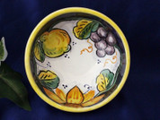 Deruta Grapes Lemons Olive Oil Dipping Bowl, Deruta Tuscan Sunflowers Olive Oil Dipping Bowl