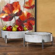 Tuscan Style Ceramic Bowl, Pedestal Bowl