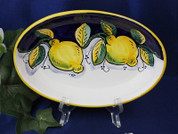 Deruta Lemon Serving Platter, Deruta Lemon Serving Dish