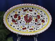 Deruta Gallo Rooster Platter, Deruta Orvieto Rooster Serving Dish