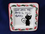 Italian Wall Plaque, Italian Proverb Plate, Love Me Love My Cat, Chi Ama Me Ama Il Mio Gatto