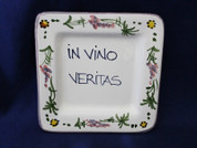 Italian Wall Plaque, Italian Proverb Plate, In Vino Veritas, In Wine There Is Truth
