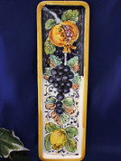 Tuscan Lemons Grapes Serving Tray, Tuscan Lemons Grapes Wall Plate