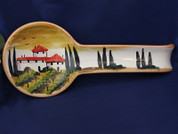 Tuscany Vineyard Spoon Rest, Tuscany Spoon Rest, Tuscan Spoon Rest
