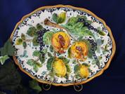 Tuscan Fruit Serving Platter, Tuscan Fruit Platter, Tuscan Fruit Plate