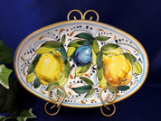 Tuscan Lemons Fruit Serving Dish, Tuscan Lemon Fruit Serving Platter