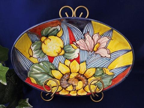 Tuscan Arlecchino Serving Dish - BellaSoleil.com