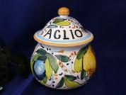 Garlic Pot, Italian Garlic Jar