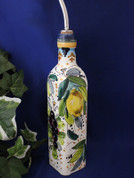 Tuscan Lemons Grapes Olive Oil Bottle, Lemon Grapes Olive Oil Bottle, Tuscany Olive Oil Bottle