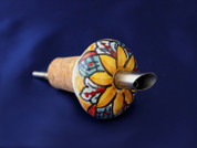 Italian Ceramic Pouring Cork, Olive Oil Ceramic Pouring Cork, Italian Ceramic Wine Cork Stopper
