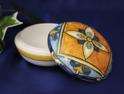 Italian Ceramic Trinket Box, Italian Ceramic Box