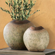 Tuscan Vase, Tuscan Urn, Rustic Vase, Terracotta Vase