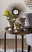 Tuscan Metal Pots, Tuscan Iron Vases