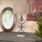 Tuscan Lamp, Tuscan Scroll Iron Lamp