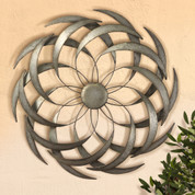 Tuscan Flower Wall Decor, Metal Flower Wall Grille