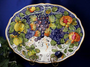 Tuscan Lemons Grapes Serving Platter, Tuscan Lemon Grapes Platter, Tuscan Lemons Plate