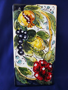 Italian Wall Tile, Tuscan Grapes Fruit Wall Tile, Tuscany Wall Tile, Italian First Stone