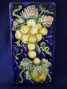 Italian Wall Tile, Tuscan Lemons Grapes Wall Tile, Tuscany Wall Tile, Italian First Stone