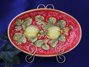 Tuscan Lemons Serving Dish, Tuscan Lemons Platter, Tuscan Lemons Serving Platter