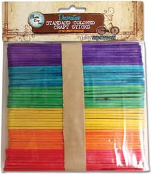 150 Flat Smooth Standard Colored Craft Sticks ~ Altered Art *