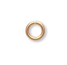 100 Gold Plated Brass 4mm Round 20 Gauge JumpRings