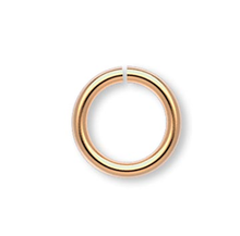 100 Gold Plated Brass 6mm Round 20 Gauge Jumprings