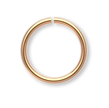 100 Gold Plated Brass 8mm Round 20 Gauge Jumprings