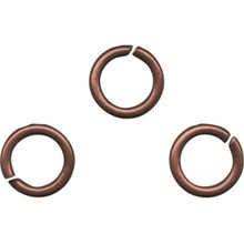 100 Antiqued Copper Plated Brass 6.5mm Round 19 Gauge Jumprings