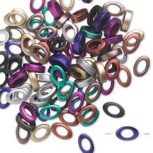 90 Opaque Metallic Acrylic 23x15mm Open Oval Bead Assortment *