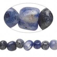 1 Strand Natural Sodalite Small 4-7mm Pebble Beads *