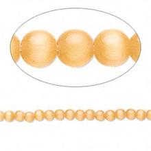 1 Strand Light Orange Cat's Eye Fiber Optic Small 2-3mm Glass Grade A Beads *