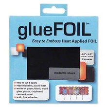 5 Sheet Package Metallic Black Metal Foil Tape Sheets 4 x 4 Inch *