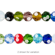1 Strand Mixed Colors 8mm Round 32 Facet Crystal Beads