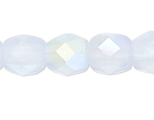 1 Strand AB Ice Blue Czech Fire Polished 4mm Faceted Round Glass Beads