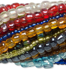 """Twenty 14"""" Strands Assorted Glass Seed Bead Mix Approximately 3,300-3,600 Beads"""