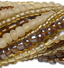"""Twenty 14"""" Strands Mixed Glass Seed Bead Mix Approximately 3,300-3,600 Beads"""