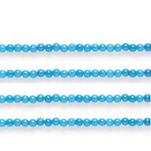 1 Strand Blue Mountain Jade Dyed Small 2mm Round Gemstone Beads *
