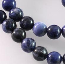 1 Strand Natural Sodalite B Grade 10mm Round Gemstone Beads *