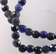 1 Strand Natural Sodalite B Grade 4mm Faceted Round Gemstone Beads *