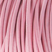 25 Yard Spool 2mm Light Pink Indian Leather Round Cord