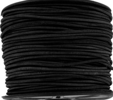 25 Yard Spool 1.5mm Antique Black Indian Leather Round Cord