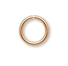 100 Gold Plated Brass 6mm Round 18 Gauge Jump Rings