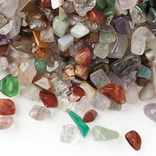 1 Pound (Approx 600-670 pieces) Gemstone Chips Mix ~ UNDRILLED Embellishment *