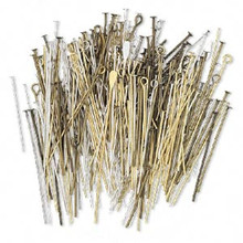 25 Grams Gold Silver Copper Antiqued Headpin & Eyepin MIX