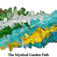 """10 x 36"""" Strands Mixed Colors Glass Chips   * 4-12mm Beads"""