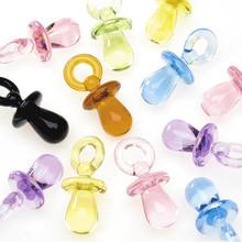 100 Multi Color Transparent Baby Pacifier Charm Mix ~15x32mm
